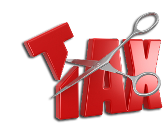 tax cutting logo